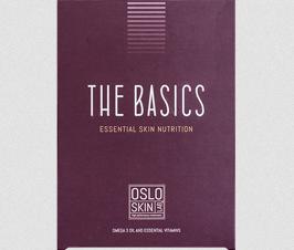 The Basics™ Essential Skin Nutrition The Basics™ Essental Skin Nutrition er kapsler fylt med viktige antioksidanter, fettsyrer, vitaminer og mineraler. Daglig inntak bidrar til å bekjempe aldringstegn som følge av oksidasjon, i tillegg til å sørge for at kroppen får i seg essensielle næringsstoffer som huden kan utnytte.