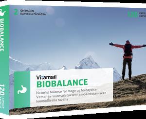 Sammensetningen av næringsstoffene i BioBalance kan bidra til å normalisere og opprettholde balansen i mage- og tarmfloraen.