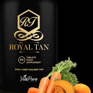 Royal Tan gir deg en gyllen og brun hudfarge, i tillegg styrkes hår og negler. Det kan også bidra til å redusere rynker og strekkmerker, samt tørr og flassende hud. Royal Tan er ikke bare et betakarotenprodukt, men et helhetlig skjønnhetsprodukt!